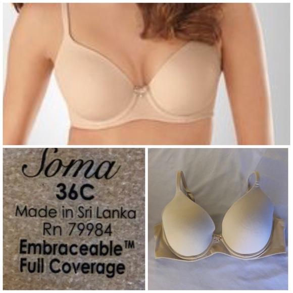 30a557eb9827 Soma Intimates & Sleepwear | Embraceable Full Coverage36c | Poshmark